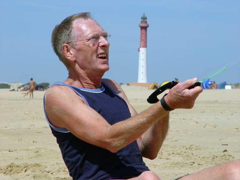 Windkracht op het strand bij 'La Coubre'