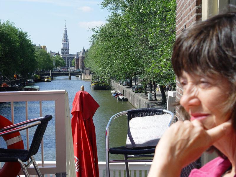Marian op het terras van de Schreierstoren