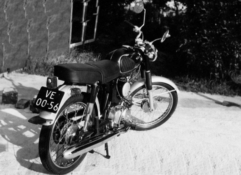 De 90 cc Honda werd eind 1969 gestolen.