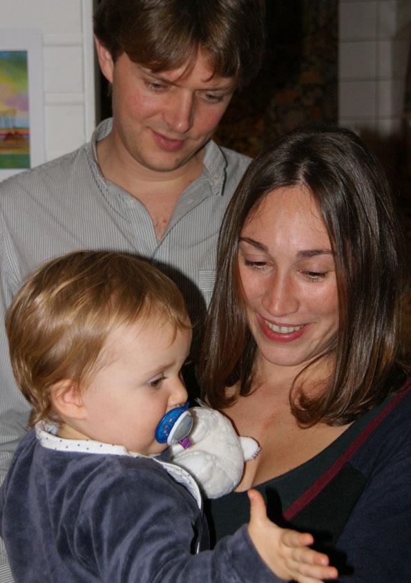 Louise met ouders bij ons in HHW
