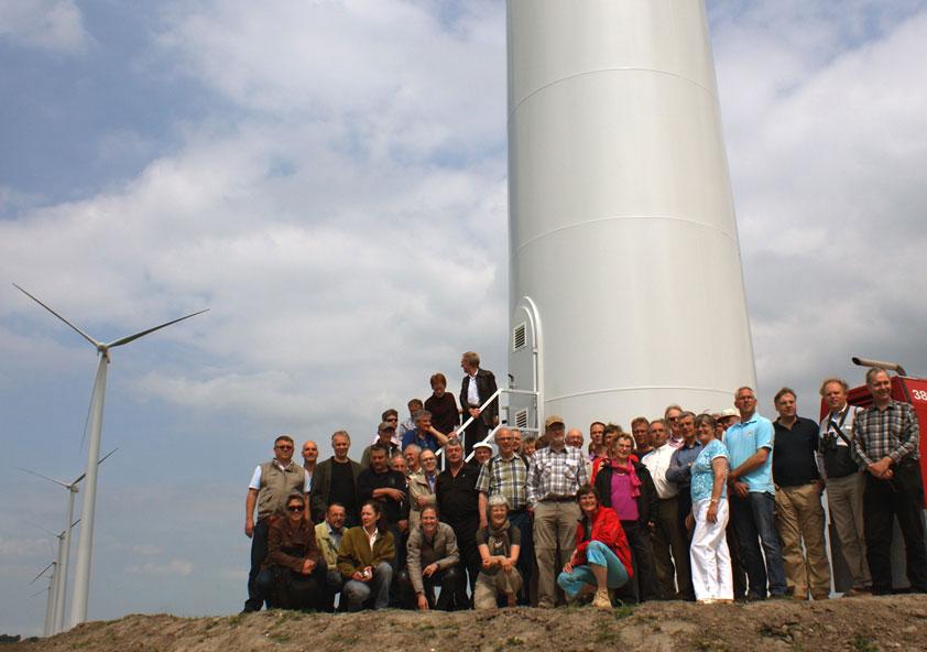 Burgers investeren in windenergie, zoals in dit windpark Burgervlotbrug