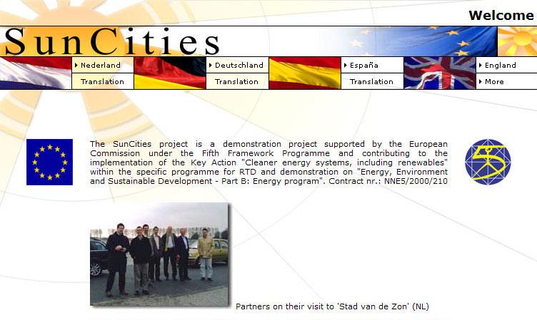 Suncities-webpage