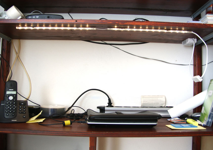 LED-strips kleine afmeting, veel licht op werkplek