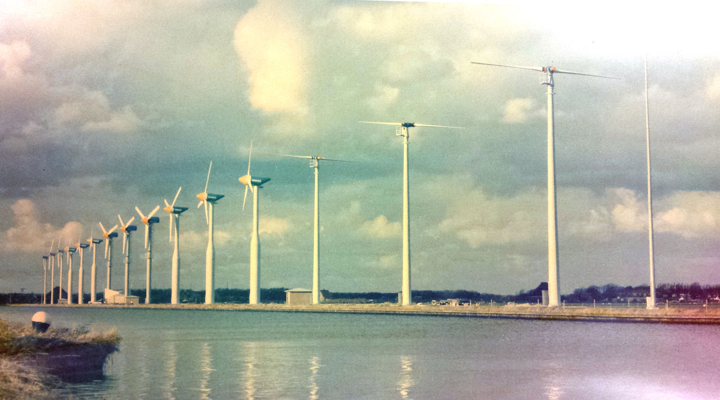 Windpark Zijpe na de bouw in 1988
