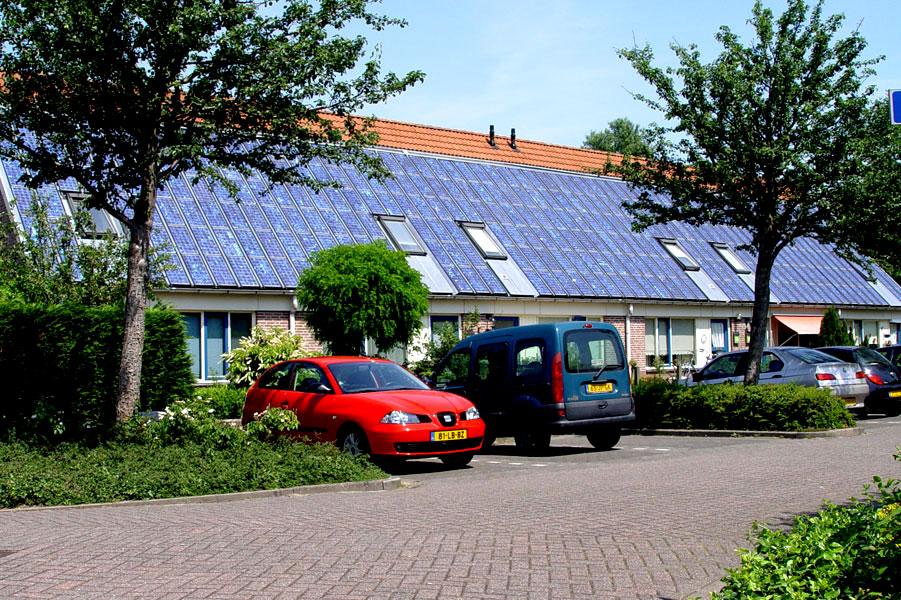 6 van 10 zonnewoningen in Butterhuizen