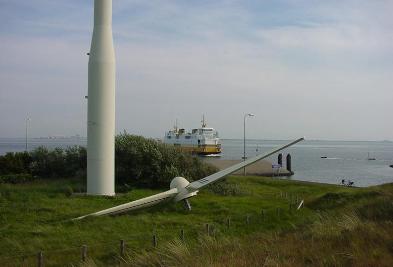 Deze Bouma molen stond jarenlang op de zuidpunt van Texel, bij 't Horntje.