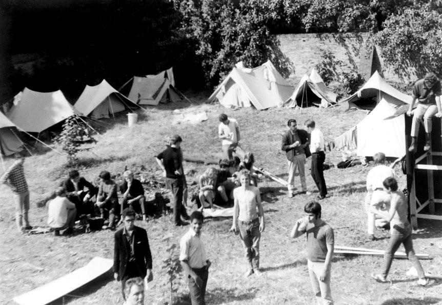 Het campement voor 5 weken