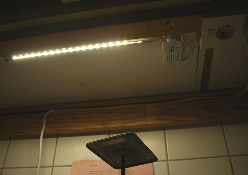 LED-strips onder bovenkastjes keuken