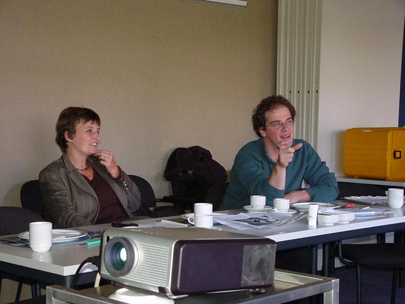 7 nov 03: Liesbeth Spies en Diederik Samsom op bezoek