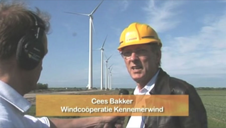 New-Energy.TV maakte opnamen bij windpark Burgervlotbrug