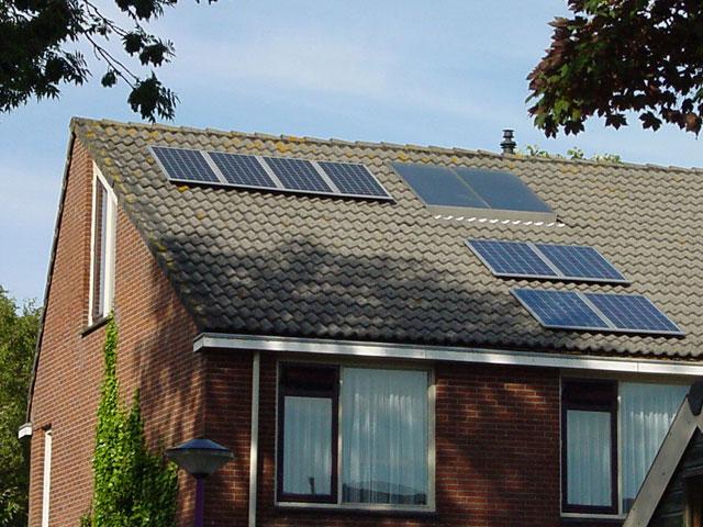 actieve zonne-energie, zowel warmte als elektriciteit