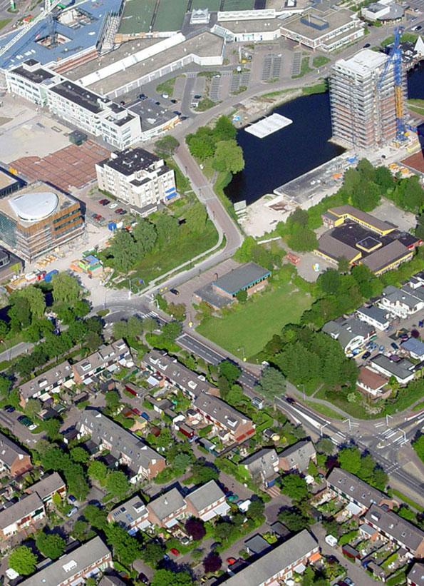 Het nieuwe stadshart van Heerhugowaard in aanbouw