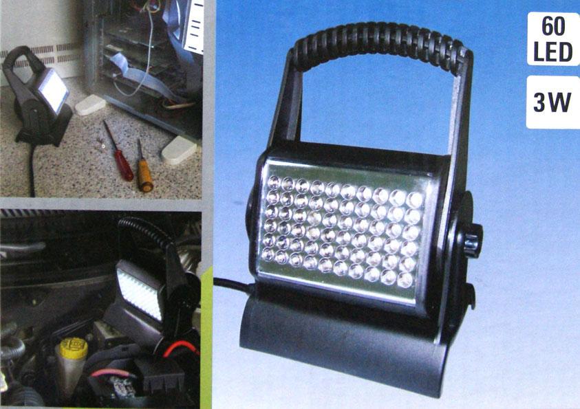 Werklamp met LED's ipv veel halogeen vermogen