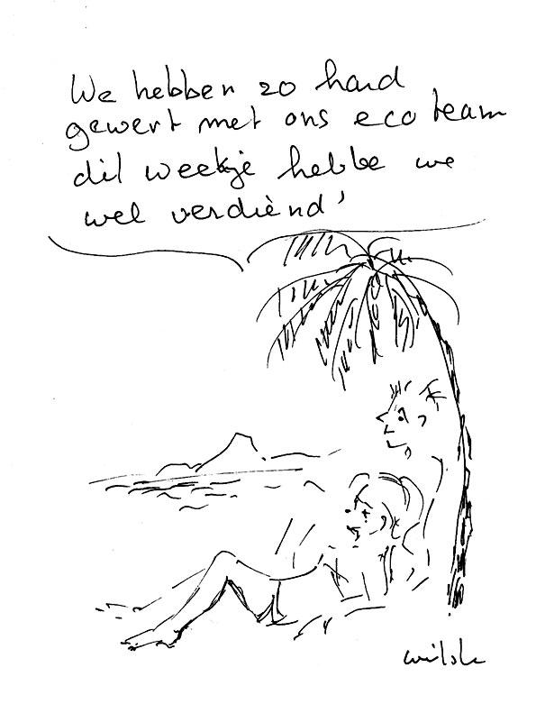 Even uitpuffen - Tekening Wietske ter Veld