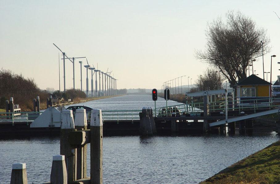 Windpark Zijpe tussen Burgervlotbrug en Zijpersluis
