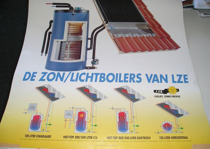 Zonneboiler: warm water van de zon