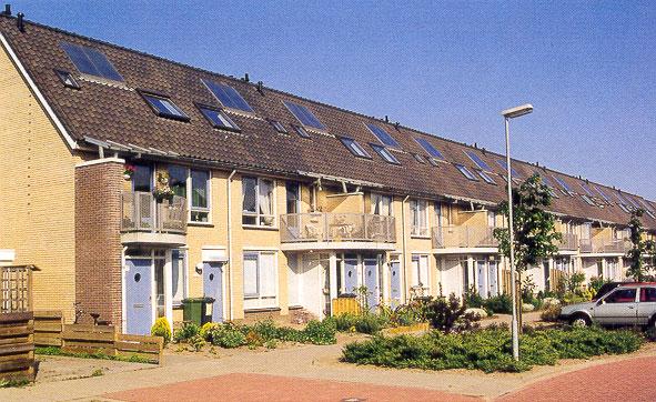 Zonneboilers op huurwoningen Ecowijk Butterhuizen