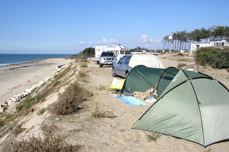 Aan de rand van het strand in Amelie