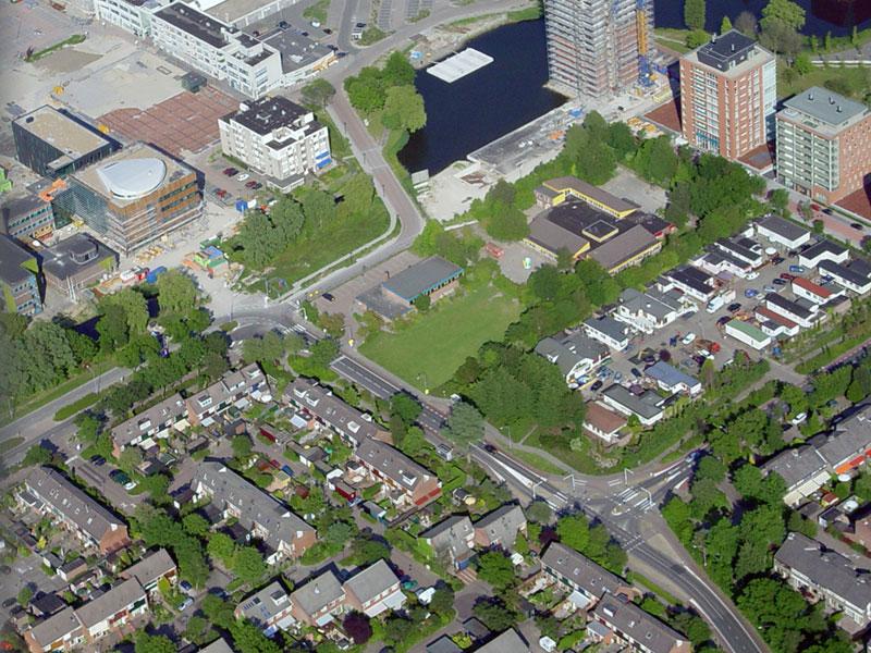 Luchtfoto Stadsplein in aanleg
