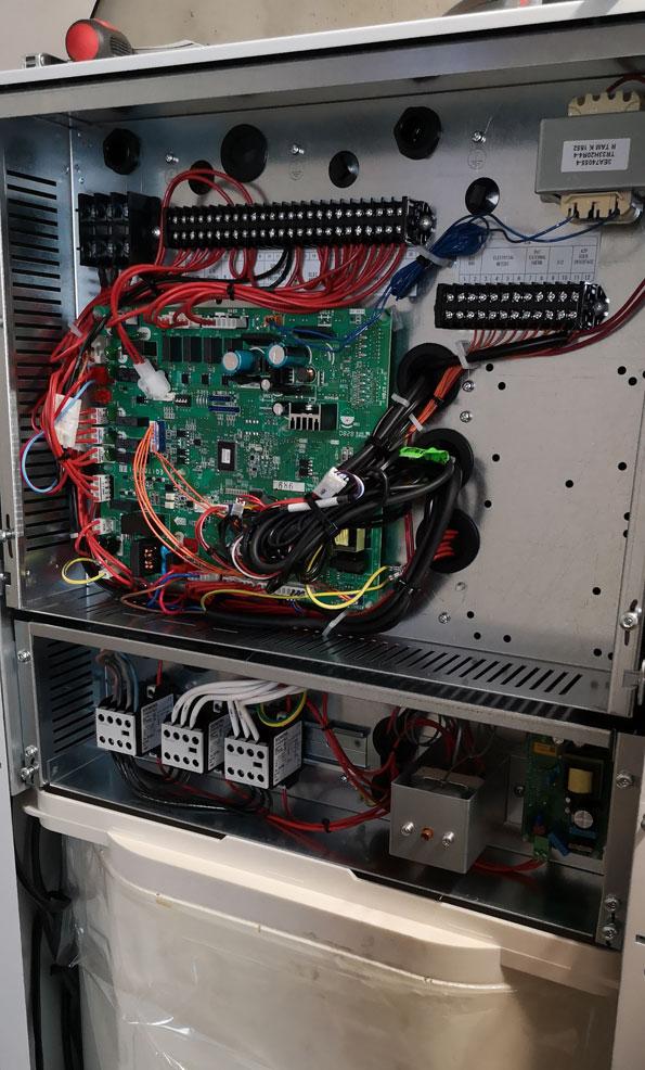 Inwendige van de warmtepomp-boiler