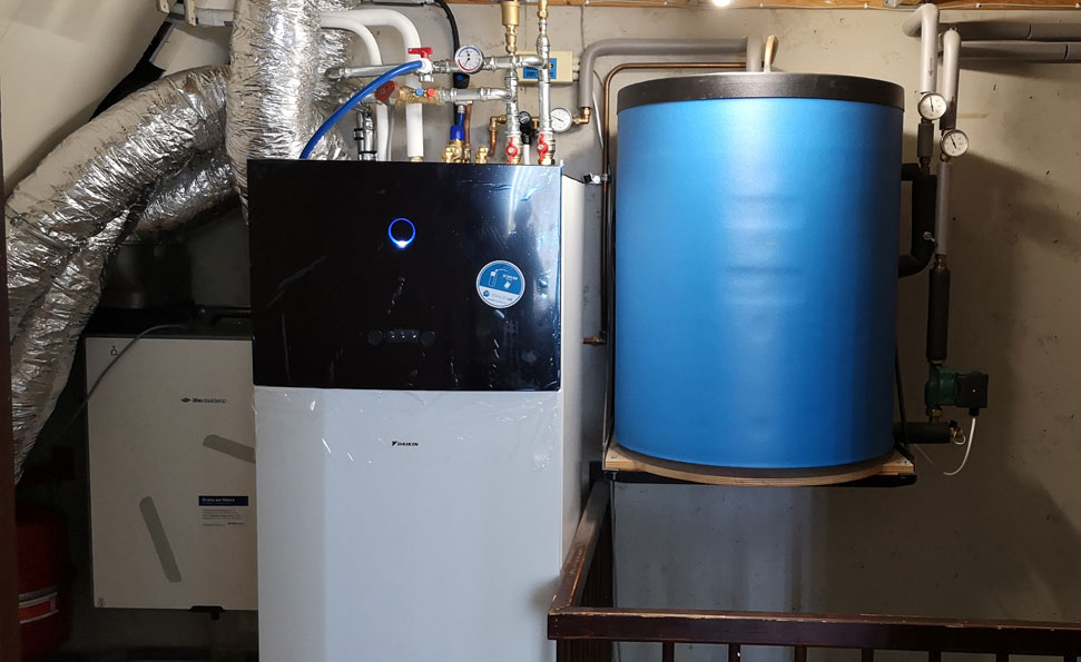 De warmtepomp en ventilatie-unit