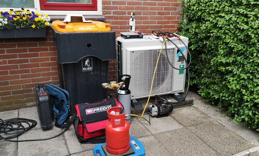 Buiten-unit Warmtepomp